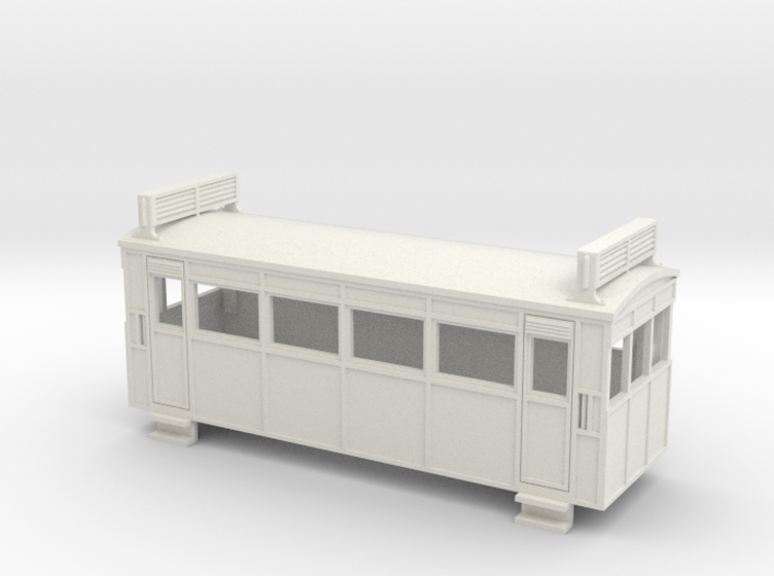 009 Drewry 4w railcar with roof radiators 3d printed