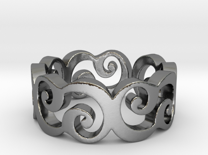 C Ring Thick by Cameleor Ring Size 7.75 3d printed