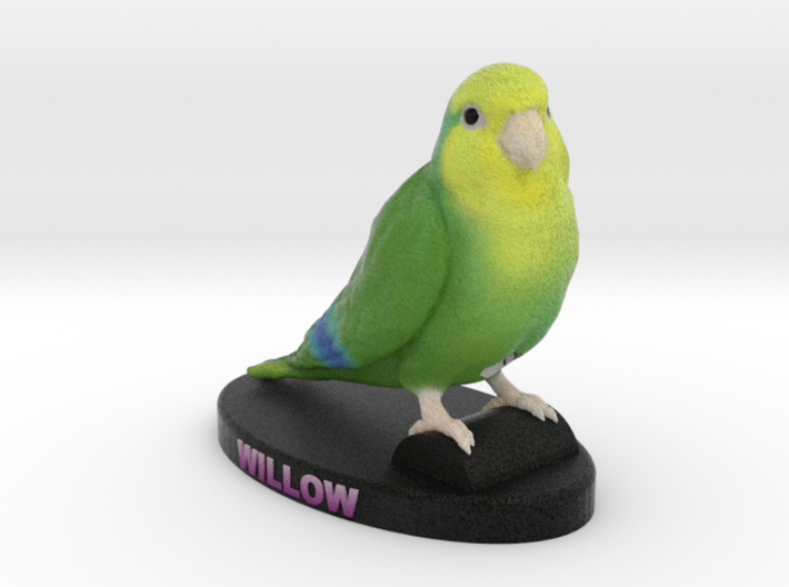 Custom Bird Figurine - Willow 3d printed