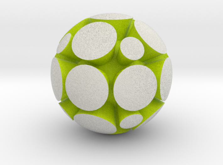 LuminOrb 2.7 - GRATITUDE 3d printed Shapeways render of GRATITUDE in Full Color Sandstone