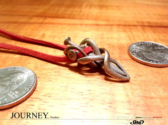 Journey Pendant  3d printed