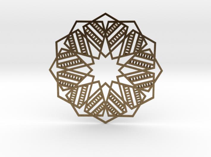Faris Pendant  - Geometric star design 3d printed