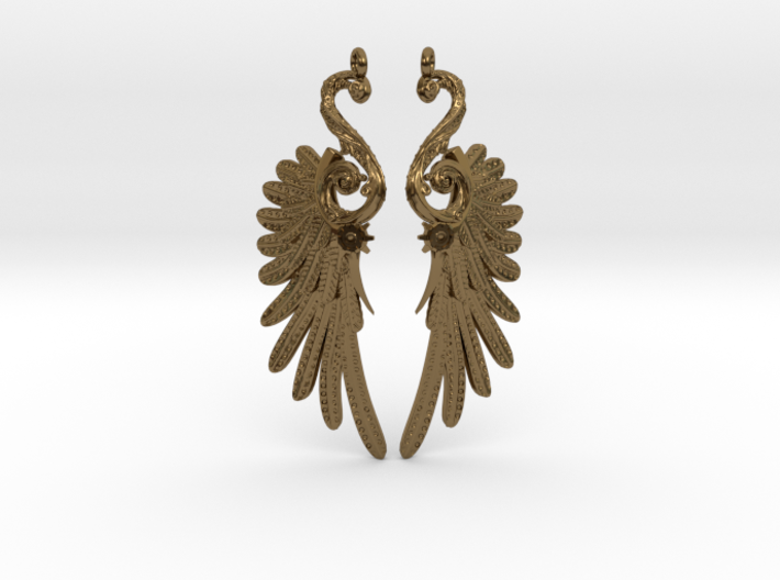 Imperial Wings of Sovereignty Earrings 3d printed