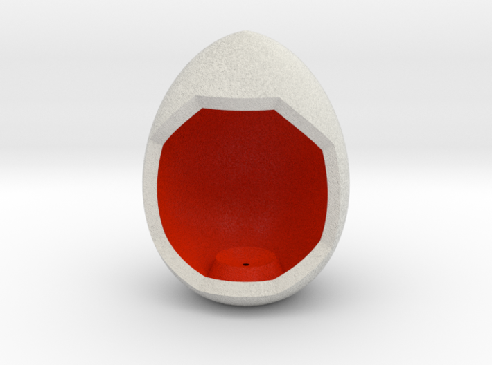 LuminOrb 2.1 - Egg Stand 3d printed Shapeways render of Egg Display Stand for JOY in Full Color Sandstone
