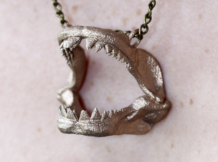 Great White Shark Jaw With Loop 3d printed