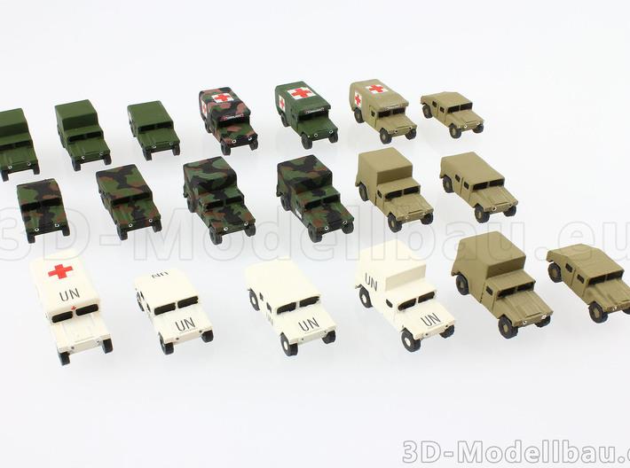 1/160 US Army M1025 Humvee HMMWV Hummer H1 3d printed
