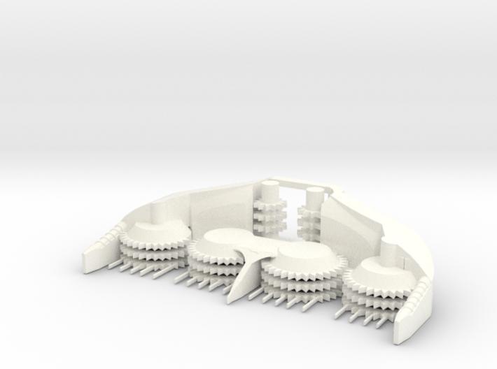 1/64 8 Row Rotary Head (tall) 3d printed