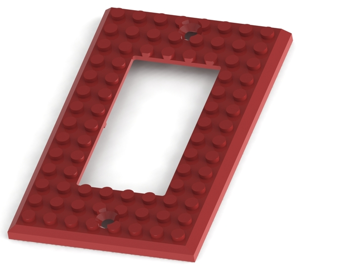 Lego based Switch Cover Plate (Single rocker) BETA 3d printed