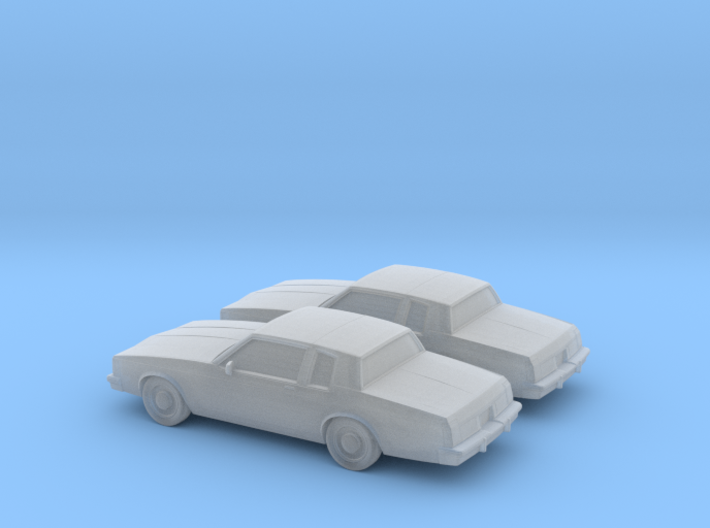 1/160 2X 1980-85 Oldsmobile Delta 88 Coupe 3d printed