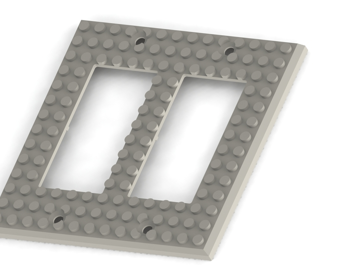 Lego Base Switch Cover Plate (Double rocker) BETA 3d printed