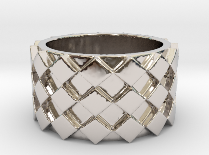 Futuristic Diamond Ring Size 4 3d printed