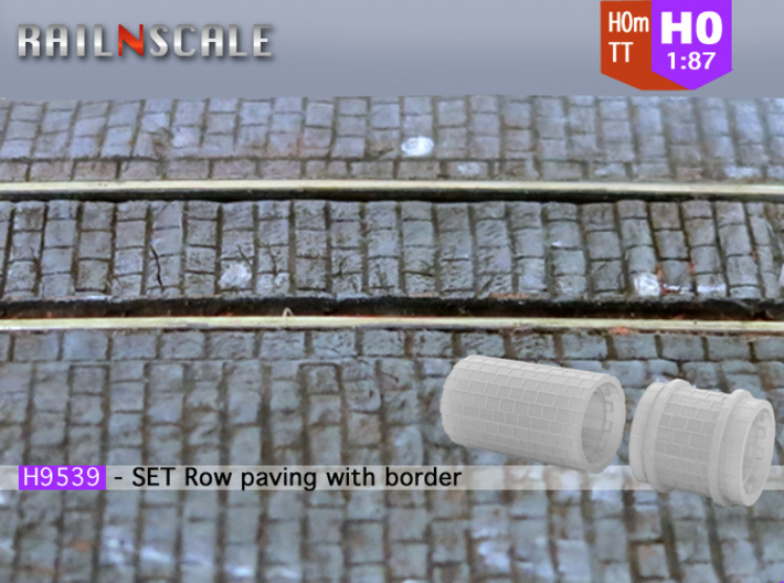 SET Row paving with border (H0m) 3d printed