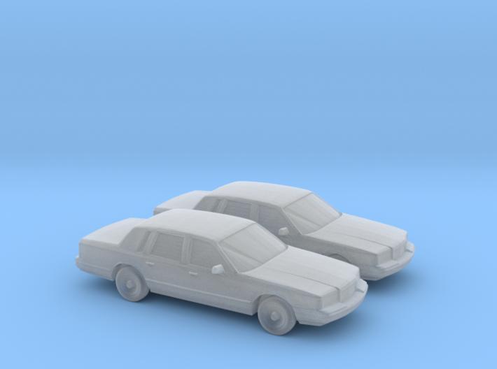 1/160 2X 1996 Lincoln Town Car 3d printed