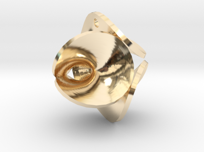 Enneper Earring / Pendant 3d printed
