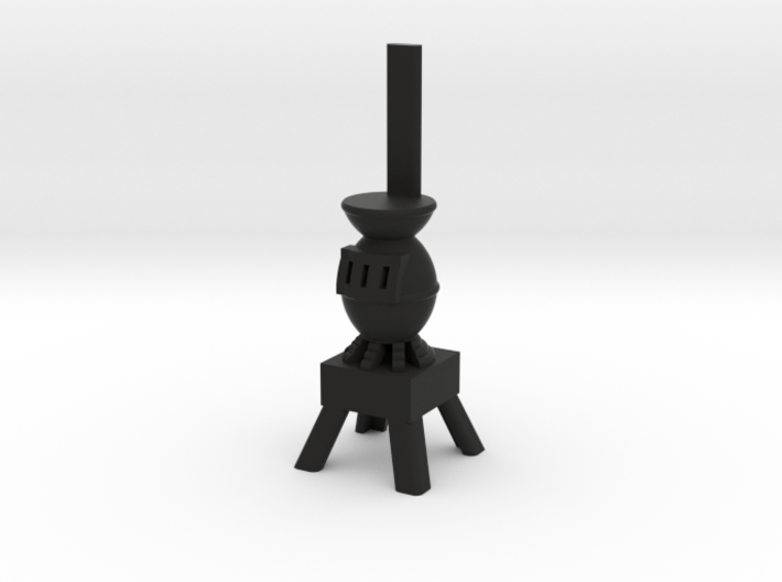 Potbelly Stove - HO 87:1 Scale 3d printed