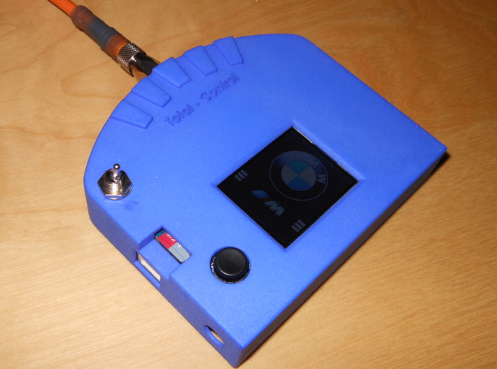Arduino TFT Gehaeuse Vorderseite 3d printed Frontansicht in Royal Blue Strong&Flexible