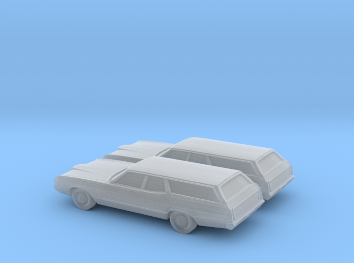 1/160 2X 1971 Ford LTD Country Squier 3d printed