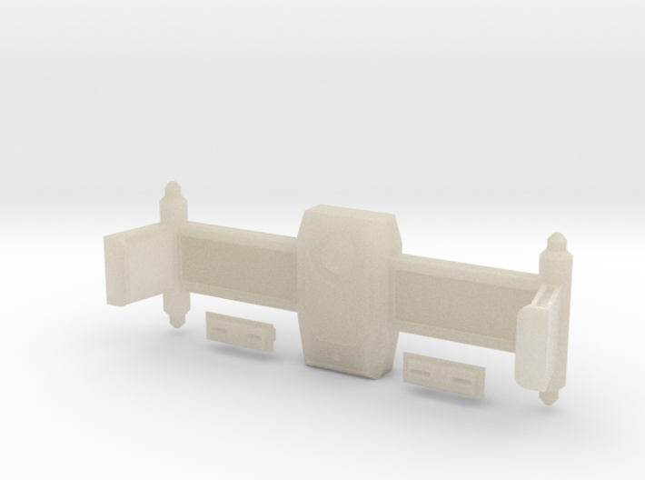 Dorsal Weapons Rollbar With Torpedo Launcher Faces 3d printed