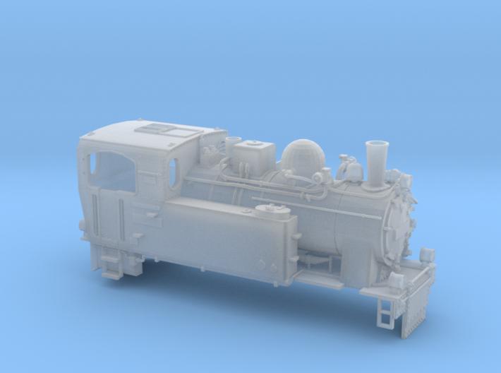Schmalspurdampflok BR 996102 in H0m (1:87) 3d printed