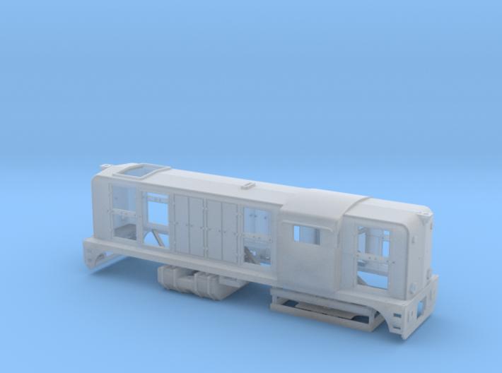 N NS 2400 met zwaailichten (messing onderdelen) 3d printed