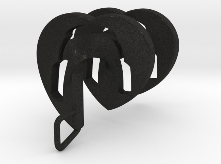 Headphones Heart Spiral Pendant 3d printed