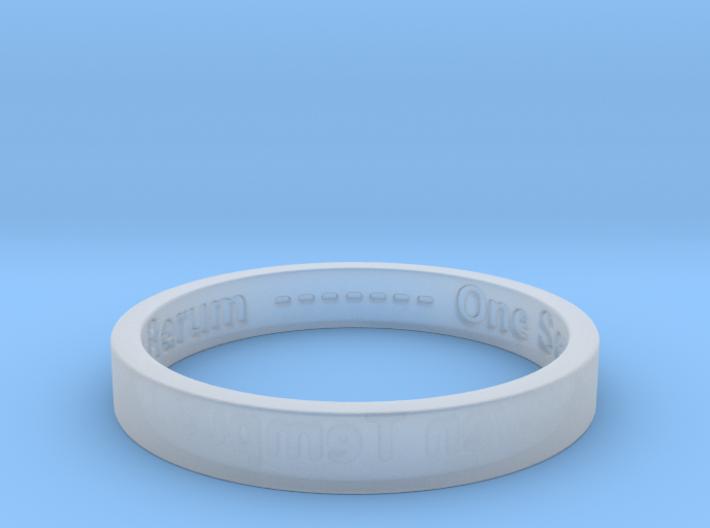 177 tempus edax rerum john titor Ring Size 7 3d printed