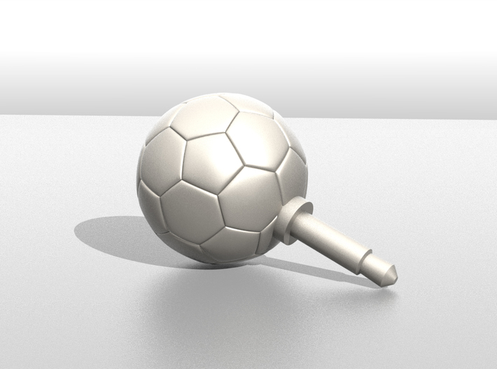 Soccer Ball Phone jack accessories 3d printed Image of the publication will be sample only. Appearance depends on the material you choose.