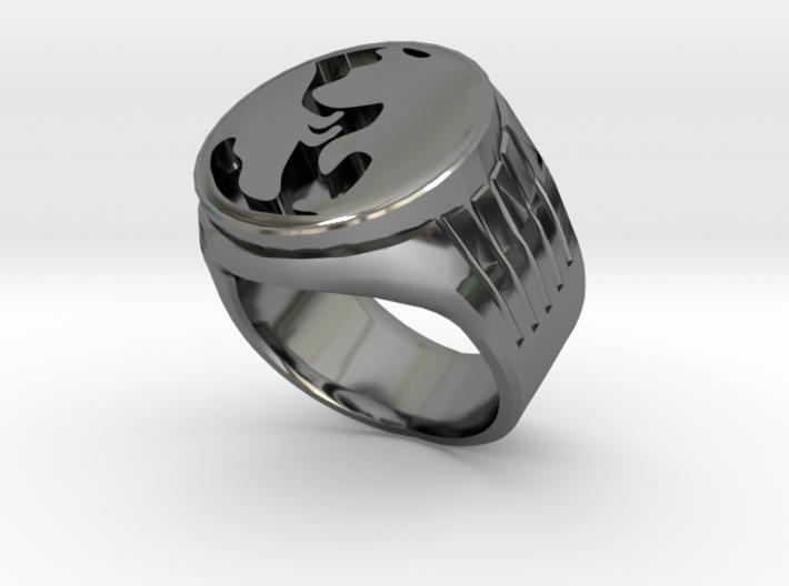 The Bull verse the Bear ring 3d printed