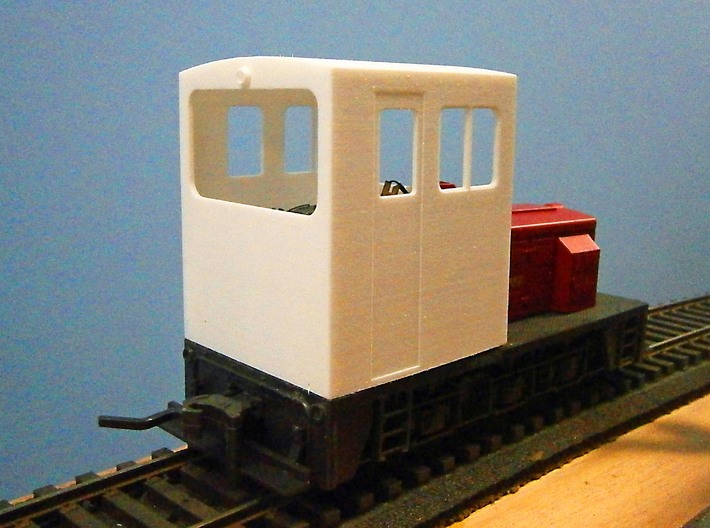 F Scale critter cab 3d printed Rear View
