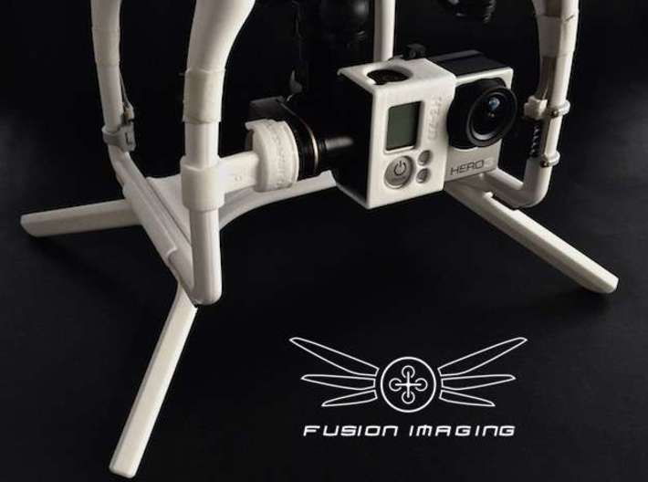 2.4 inch DJI Phantom 2 Gimbal Guard / Leg Extender 3d printed DJI Phantom 2 Gimbal Guard / Leg Extender (2.0inch shown for display purposes)