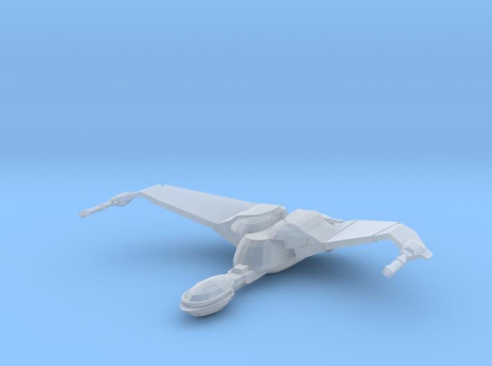 1/2500 BoP Scoutship (wings up - flight) 3d printed
