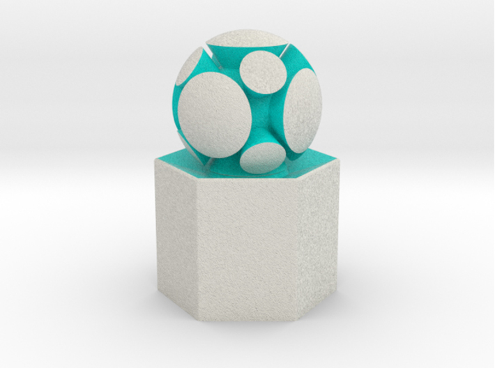 LuminOrb 2.5 - HARMONY 3d printed Shapeways render of HARMONY on a matching color Column Display Stand (optional)