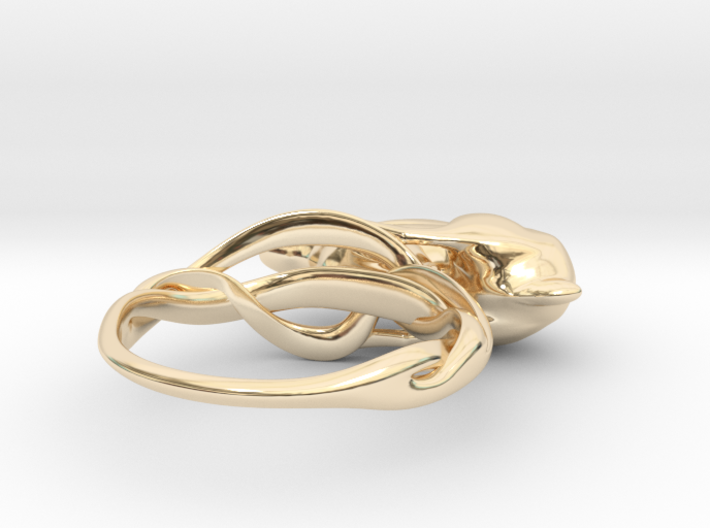 Running Rabbit Ring - Anticipation, Size7 3d printed