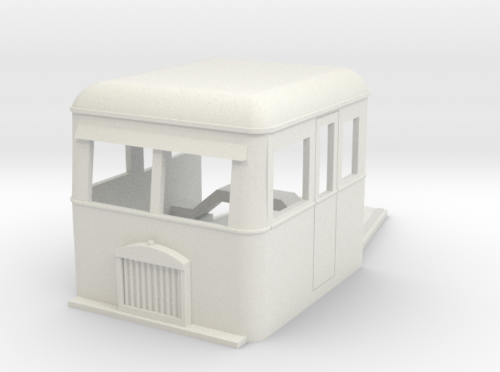 009 articulated railcar front part full cab 3d printed