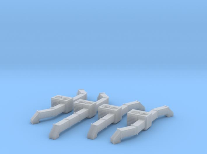 Rooftop AC Unit Set Of 4 N Scale 3d printed