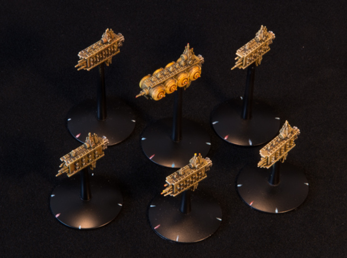 Defence Network - Auxiliary Ships X6 - Mk I 3d printed