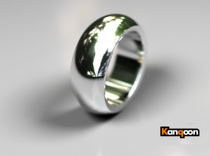 Ralph - Ring - US 9 - 19 mm inside diameter 3d printed Premium Silver PREVIEW