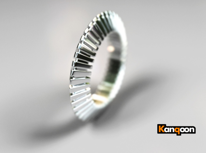 Patrick Triangle - Ring - US 9 - 19 mm 3d printed Polished Silver preview
