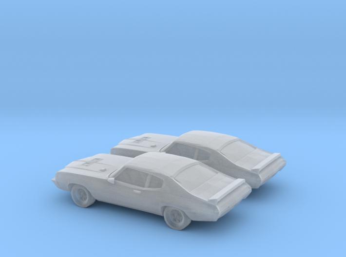 1/160 2X 1971 Buick GSX 3d printed