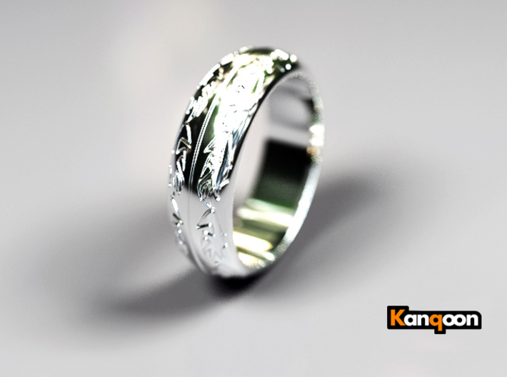 Ray F. - Ring 3d printed Polished Silver preview