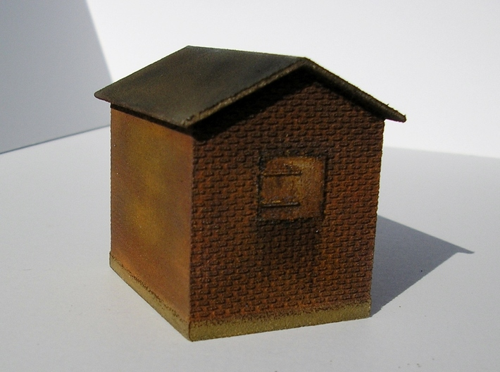 Tower 106 Auxiliary Building (HO 1:87) 3d printed WSF printed model painted and weathered