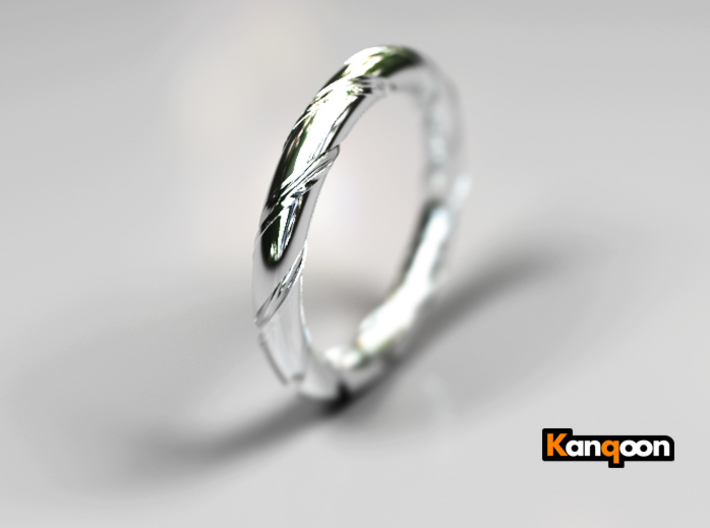 Bernd - Ring 3d printed Polished Silver Preview