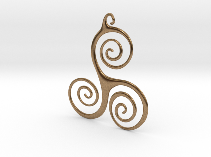 Three Waves Pendant 3d printed