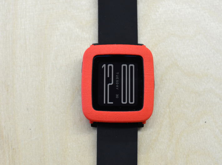 Pebble Time / Time 2 cover / bumper 3d printed Firetruck red