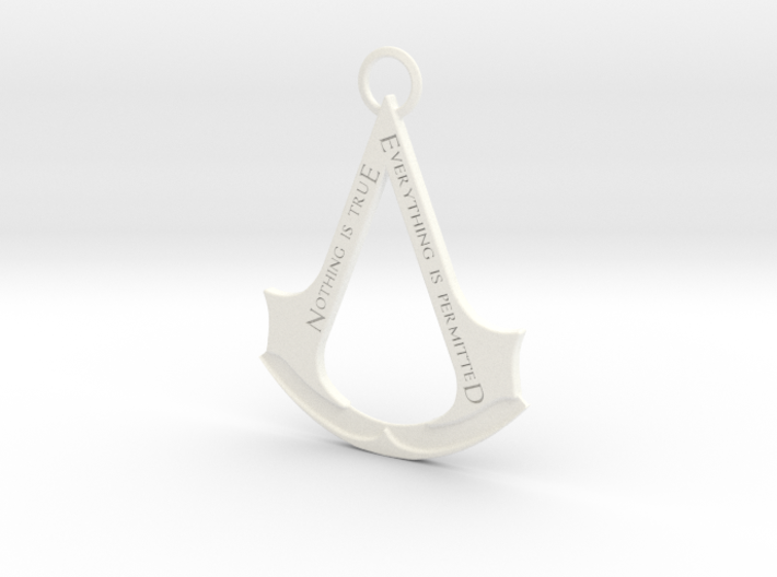 Assassin's creed logo-bottle opener (with ring) 3d printed