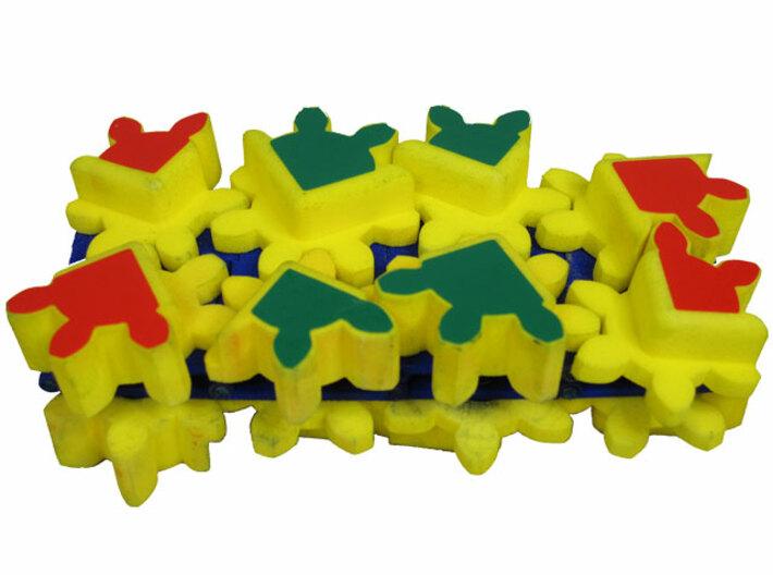 Gear Bracelet Double Row 3d printed