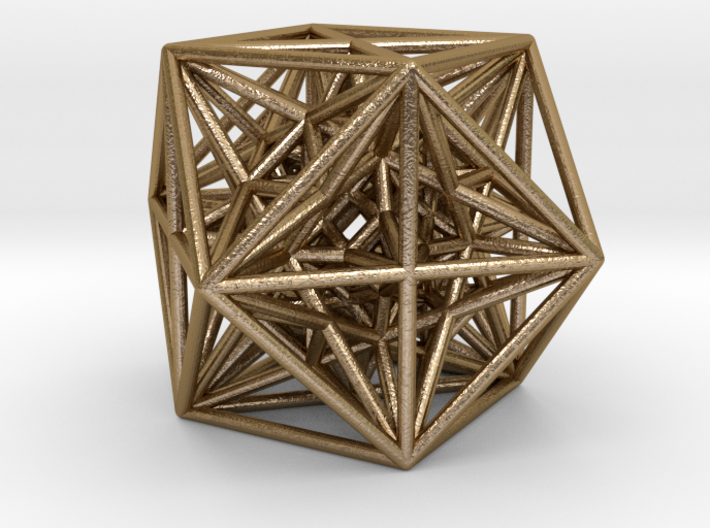 "Inversion of Cuboctahedra-2.8"" 3d printed"