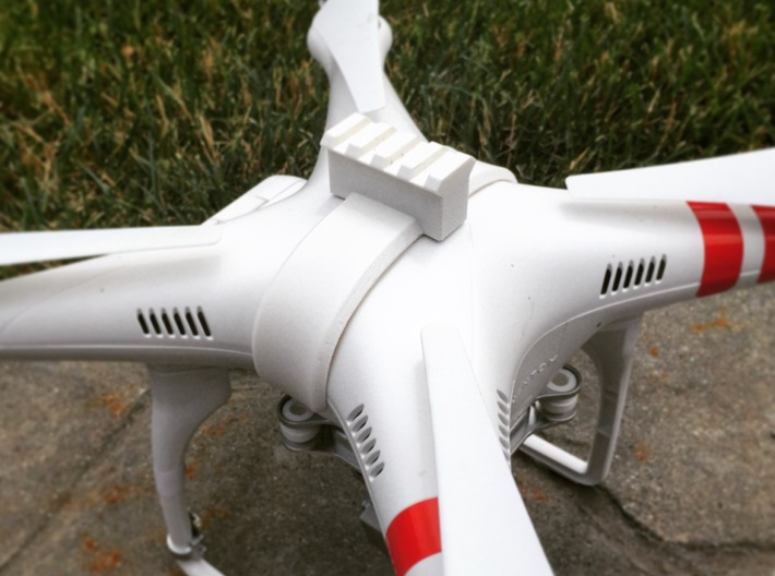 DJI Phantom - Snap Strap with Picatinny Rail 3d printed Actual photograph of tested prototype