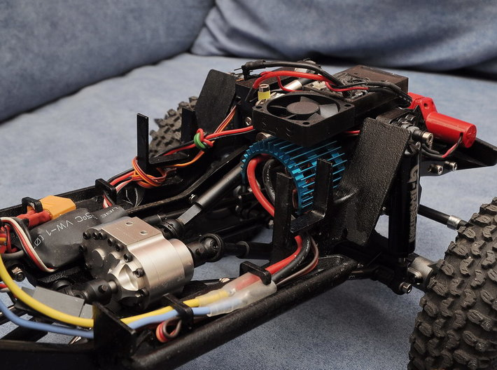 JeepTj Custom Kit-Skidplate With Battery Mount sx 3d printed