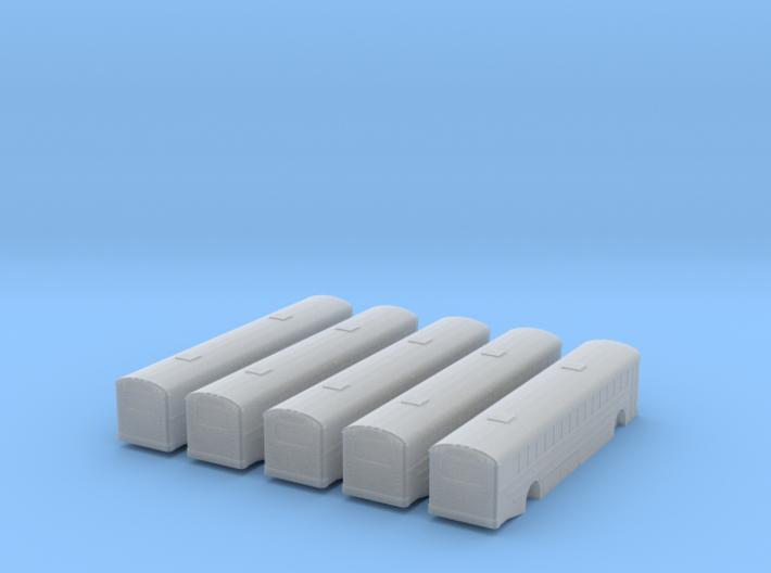 n scale school bus 2015 ic re 300 5 pack (long) 3d printed